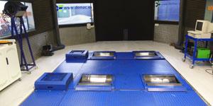 Instalaciones del banco de potencia 4x4 en Madrid
