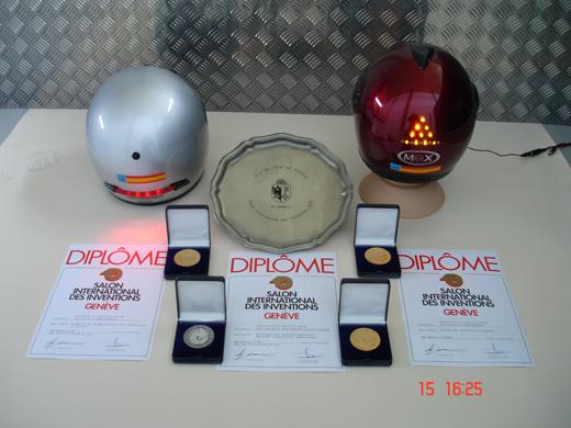 Medallas conseguidas en el Salón de los Inventores de Ginebra