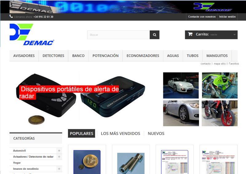 Disponible nueva tienda online de Demac
