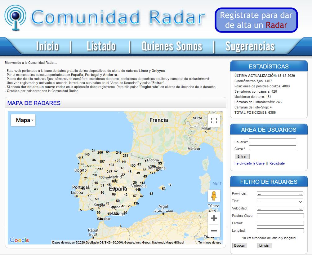 Comunidad Radar - Revisión de radares